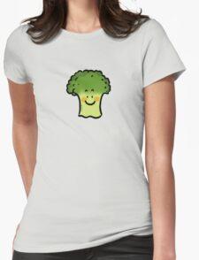 Cute veggie broccoli cartoon Womens Fitted T-Shirt