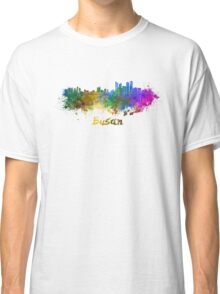 Busan skyline in watercolor Classic T-Shirt