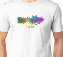 Busan skyline in watercolor Unisex T-Shirt