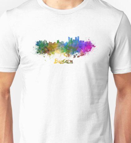 Busan skyline in watercolor Unisex T-Shirt