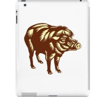 Philippine Warty Pig Woodcut iPad Case/Skin