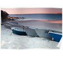Boats on Coogee Poster