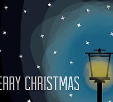 Lamp Post - Christmas Card by charliesheets