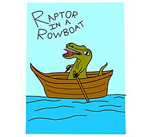 Raptor In A Rowboat Photographic Print