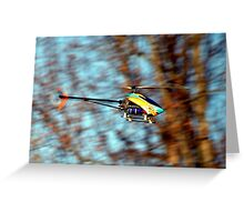 RC Helicopter Greeting Card