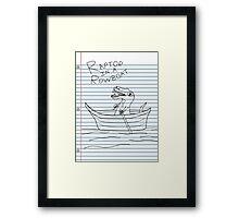 Looseleaf Raptor In A Rowboat Framed Print