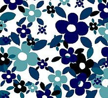Gothic Blue Field Of Flowers by crycepaul