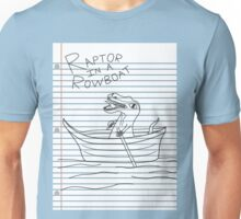 Looseleaf Raptor In A Rowboat Unisex T-Shirt