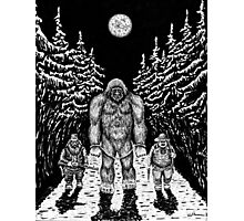 End of Bigfoot pen ink drawing Photographic Print