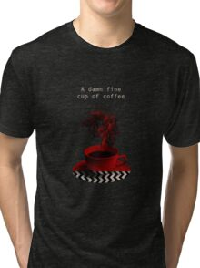"""Twin Peaks"" - A damn fine cup of coffee Tri-blend T-Shirt"
