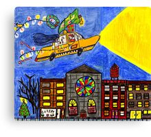 Flying taxi: Christmas time is in the air again! Canvas Print