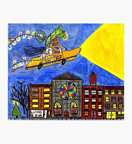 Flying taxi: Christmas time is in the air again! Photographic Print