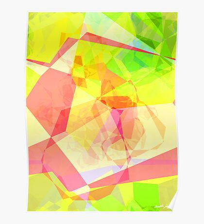 Abstract Polygons 122 Poster