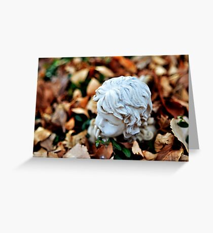 Buried Statue Greeting Card