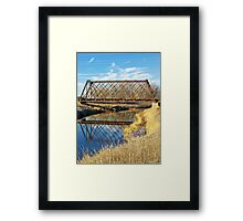 Rusty Reflection Framed Print