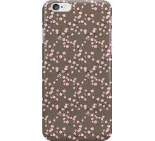 Cherry Blossom, Sakura Flowers - Pink Brown iPhone Case/Skin