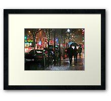 December Night on Fillmore Street Framed Print