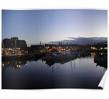 Hobart Waterfront at Dusk, Tasmania Poster