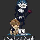 Light and Ryuk  by Haragos