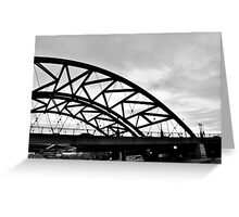 B&W Bridge into Nothing Greeting Card