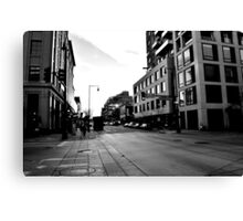 B&W Off of 16th Canvas Print