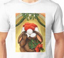RABBIT UNDER THE MISTLETOE Unisex T-Shirt
