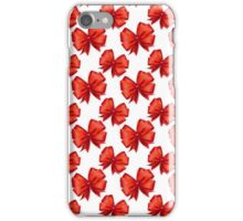 Trendy elegant girly red white cute bow pattern  iPhone Case/Skin