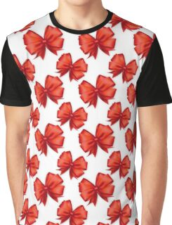 Trendy elegant girly red white cute bow pattern  Graphic T-Shirt