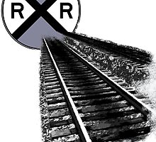 Railroad Crossing Abstract by jerry2011