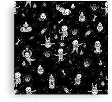 infinite skeletons Canvas Print