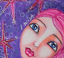'I Wish' Mixed Media ART Reproduction by Tanya Cole