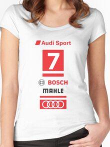 Audi R18 e-tron #7 LeMans Tribute Women's Fitted Scoop T-Shirt
