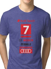 Audi R18 e-tron #7 LeMans Tribute Tri-blend T-Shirt