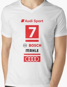 Audi R18 e-tron #7 LeMans Tribute Mens V-Neck T-Shirt