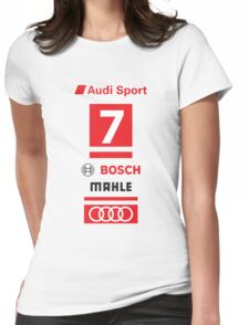 Audi R18 e-tron #7 LeMans Tribute Womens Fitted T-Shirt