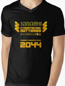 Kiroshi Cybertechnic Batteries - Yellow/Orange Mens V-Neck T-Shirt