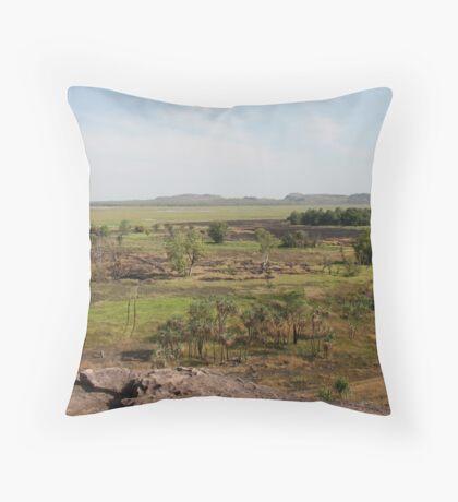 Kakadu Wetlands Throw Pillow