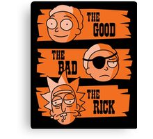 The Good Morty, The Bad Morty, and the Rick Canvas Print