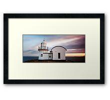 Lighthouse Sunset , Tacking Point Framed Print