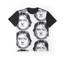 GabeN - Black and White Graphic T-Shirt