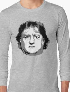 GabeN - Black and White Long Sleeve T-Shirt