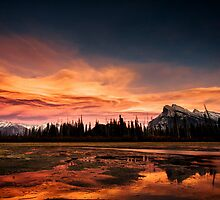 Vermilion Lakes Sunset, Banff by Jai Honeybrook
