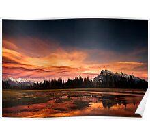 Vermilion Lakes Sunset, Banff Poster
