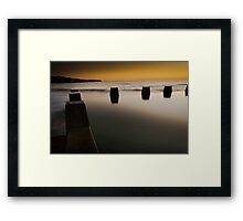 Sunrise over Coogee Pool Framed Print