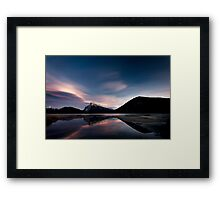 Dusk over Vermilion Lakes, Banff Framed Print