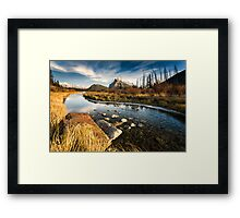 Vermilion Lakes, Banff Framed Print