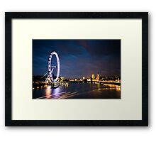 River Thames, London England Framed Print