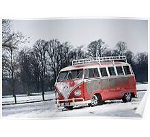 Red White Splitty Poster