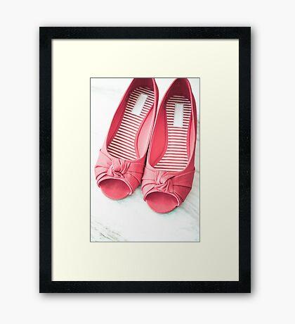 Red & Trendy Framed Print