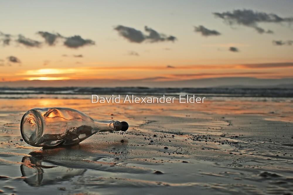 Message in a Bottle Sunset by David Alexander Elder